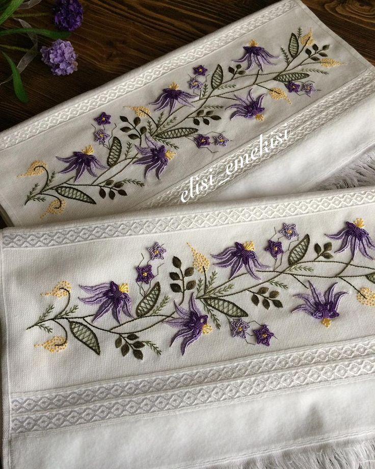 Bu havlularda bitti darısı bi sonraki havluların başına #mor#havlu#elişi#elnakışı#embroidery#handmade#10marifet#çeyiz