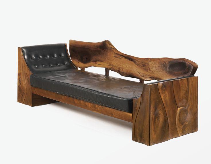 Philip Powell walnut sofa