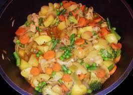 koude vleesschotel uit de Achterhoek HALVE GEDRAAIDE lijkt erg op Huzarensalade. Beide gerechten zijn goed van resten aardappels en vlees te maken.