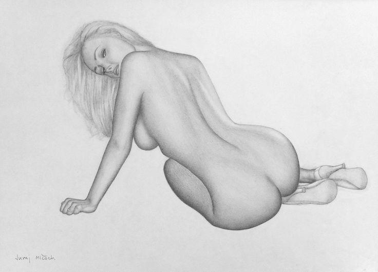 Inga Drozdova by jm78.deviantart.com on @DeviantArt - graphite pencil on paper // original reference photo by Playboy #pinup #playmate #playboy