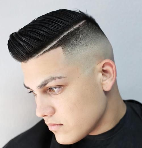 Image result for skin fade comb over