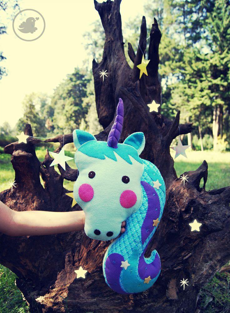 Unicornio, plush toy. www.florula.com.mx/tiendita-2 <3