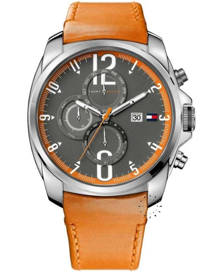 Tommy HILFIGER Multifunction Orange Rubber Strap  149€  Αγοράστε το εδώ:  http://www.oroloi.gr/product_info.php?products_id=31032
