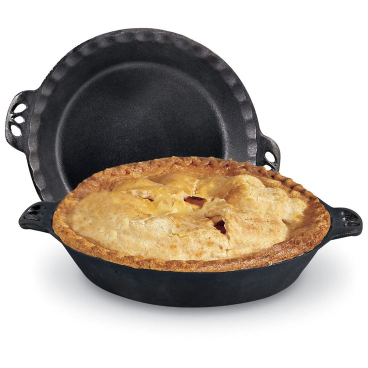 Golden, delicious, for apple pies and all those others! Camp Chef® Cast Iron Pie Pan.