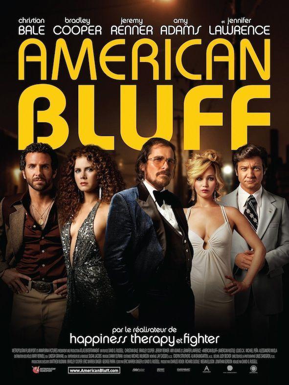 """American Bluff"" de David O. Russell, avec Christian Bale, Bradley Cooper, Amy Adams & Jennifer Lawrence (02/2014) <3<3<3<3"