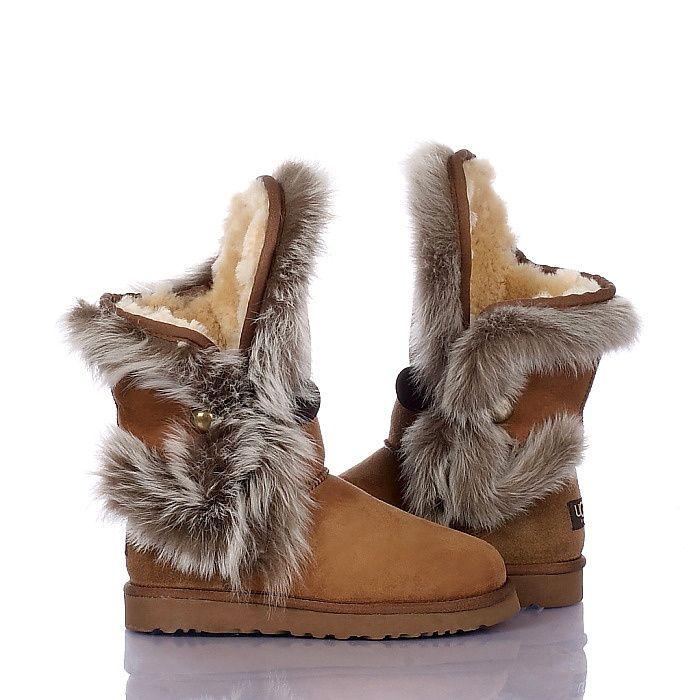 UGG Boots - Fox Fur - Chestnut - 5331