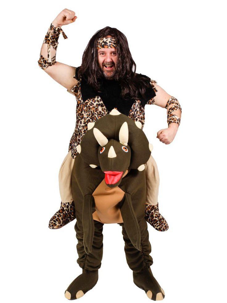 Disfraz de hombre prehistórico con dinosaurio adulto -Premium: Este disfraz prehistórico con dinosaurio para adulto incluye camiseta de leopardo, pantalón de dinosaurio, diadmea y dos cintas.La camiseta es de tejido suave y estampado de leopardo...