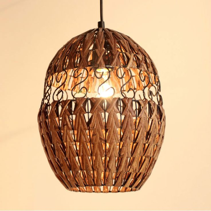 Details About Handmade Hollow Creatives Rattan Pendant Lamp Dining Room  Ceiling Light Fixtures