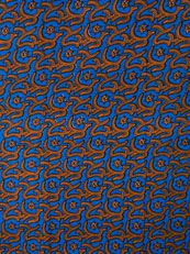 African Fabric Real Wax Print 6 Yards 100% Cotton rw089351_1