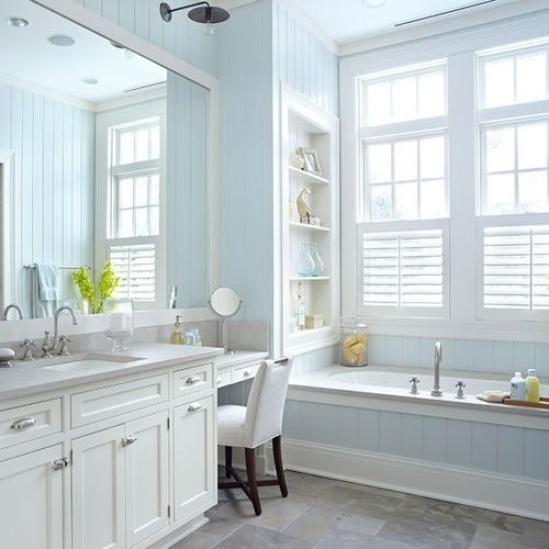 Cottage Bathrooms Beadboard Cottage Decor Blue Beadboard Bathroom House Pinterest
