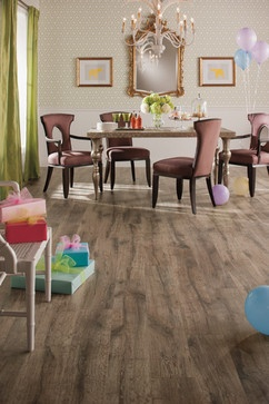 quick step reclaim heathered oak uf1517 traditional dining room - Dining Room Flooring Options