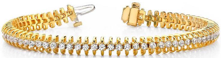 Diamantarmband mit 3.00 Karat Diamanten aus 585er Gelbgold bei www.diamantring.be für nur 4650.00 Euro Versandkostenfrei bestellen.