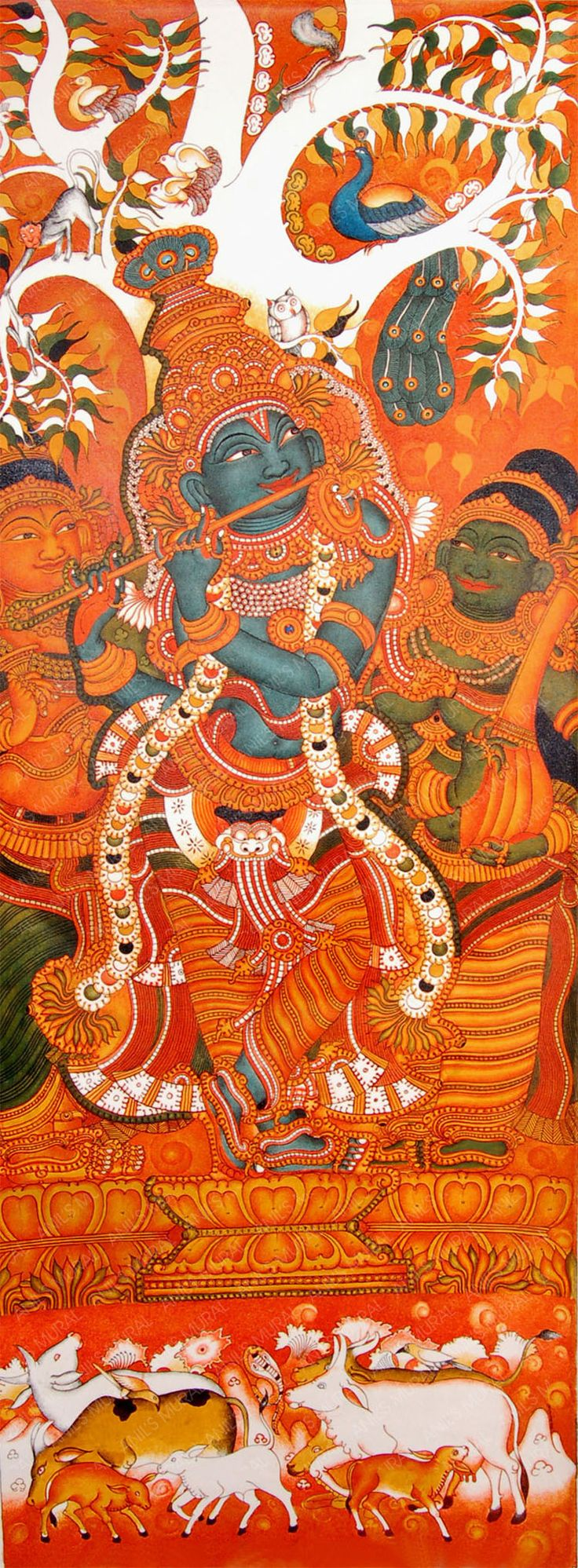 853 best kerala mural art images on pinterest for Asha mural painting guruvayur