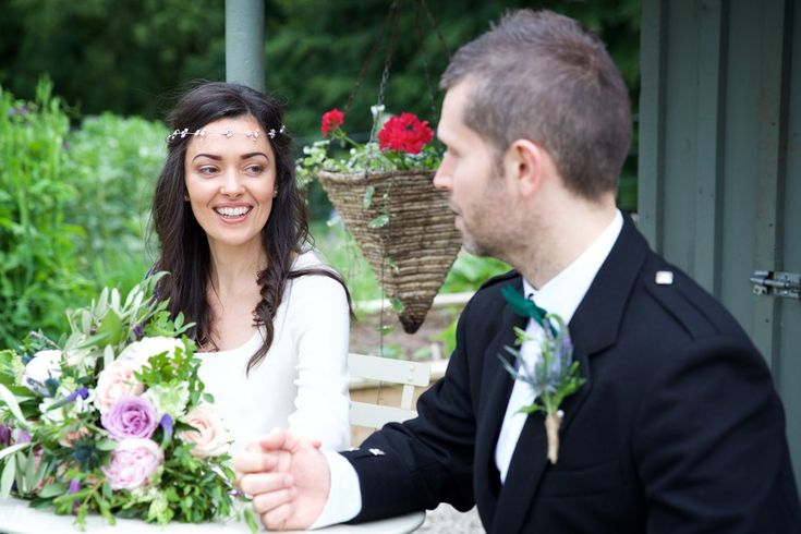 Debbie Carlisle Real Bride Anya Swarovski crystal and pearl wedding hairvine