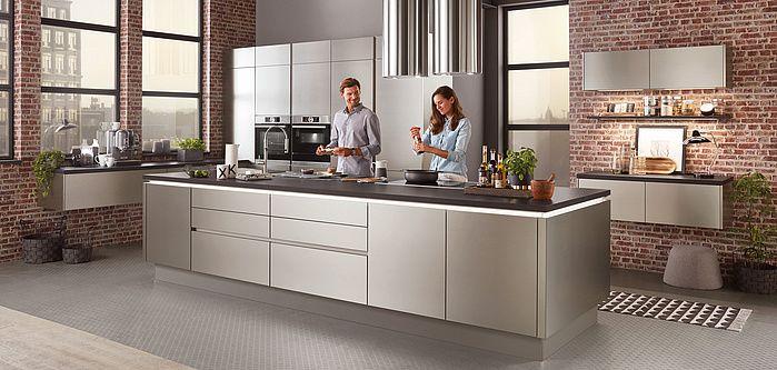Inox 216 Lacklaminat Stahl Geburstet Nachbildung Preisgruppe 4 In 2020 Einbaukuche Kuchendesign Kuchen Design