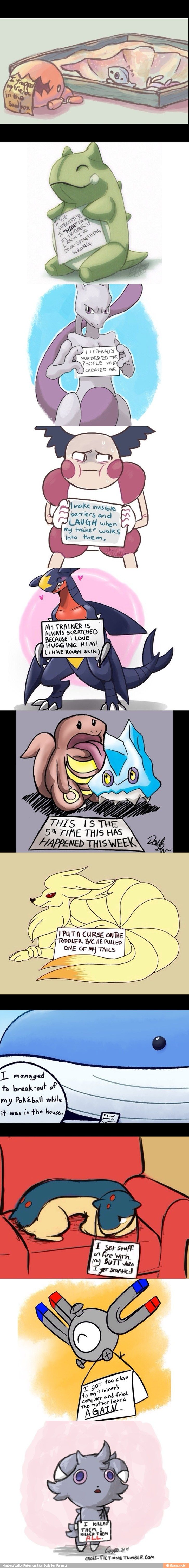 Pokemon shaming. This is a little too true With nine-tails, please tell me I'm not the only one that thought of Naruto.