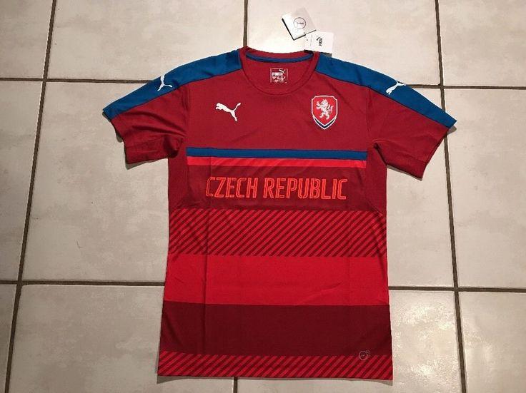 NWT PUMA Czech Republic UEFA Euro 2016 Soccer Training Jersey Men's Medium  | eBay