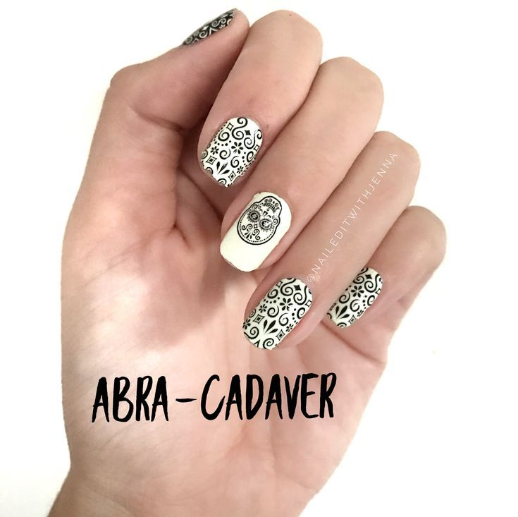 Halloween Manicure featuring Abra-cadaver from Color ...