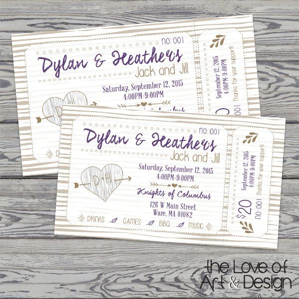 Printed Raffle Buck and Doe Tickets - Jack and Jill Tickets - Stag and Doe Tickets - Fall by TheLoveOfArtNDesign on Etsy