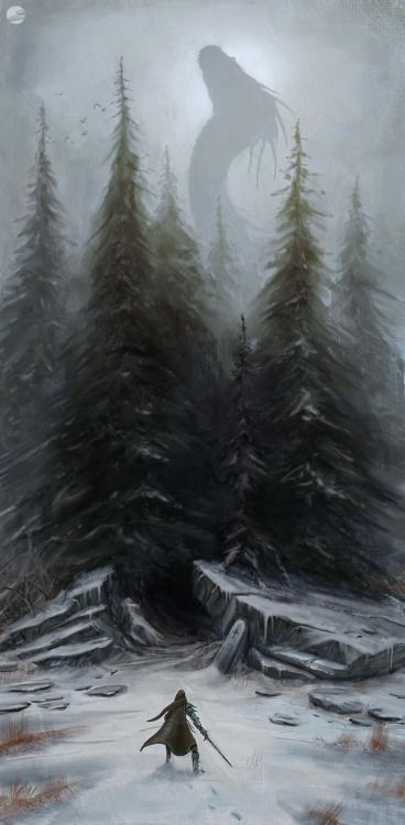 fantasyartwatch:Dragon in the Woods by Simon Fetscher(Tumblr)