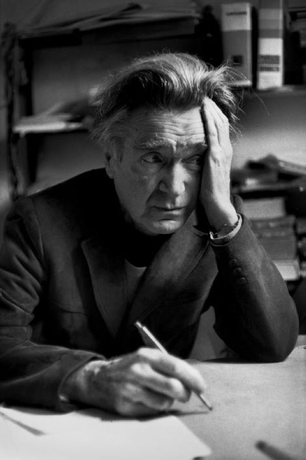Henri Cartier-Bresson // FRANCE. Paris. 1984. Romanian philosopher and essayist Emil Michel Cioran at his home.