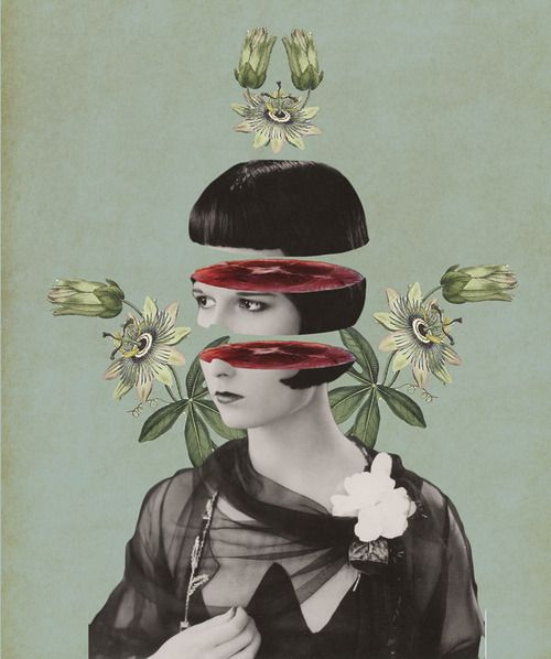 Julia Geiser   (Digital Collage)   Here work has such nice symmetry