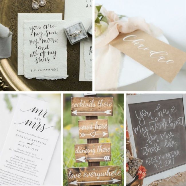 Purely Script: Wedding Calligraphy Styles