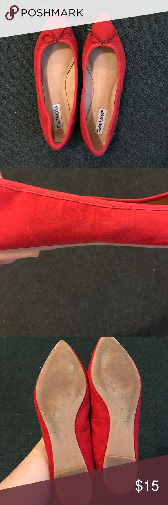 Steve Madden Red Flats Size 10. Model Serpint. Used a couple of times. Steve Madden Shoes Flats & Loafers