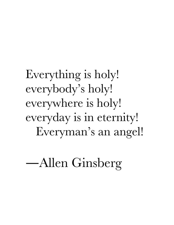"""""""Footnote to Howl"""" by Allen Ginsberg"""