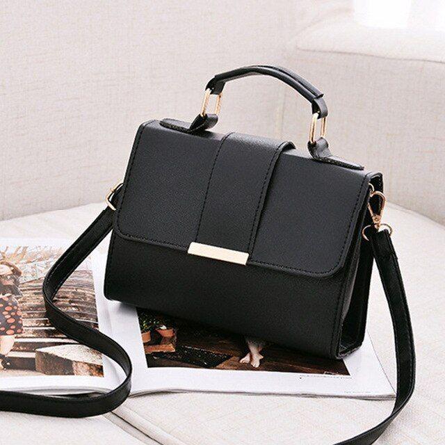 Photo of Monerffi summer women pu shoulder leather small flap crossbody handbags top handle tote messenger bags