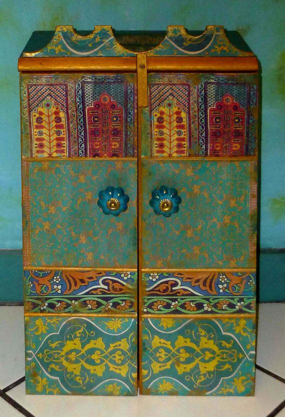 Moroccan inspired Wall Cabinet for jewelry and much more