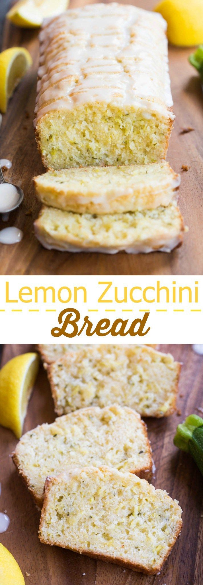 Lemon Zucchini Bread is one of our favorite quick bread recipes during the summer months! This super flavorful and moist bread tastes great for dessert, as a snack, or even for breakfast or brunch. (Quick Bake Goods)
