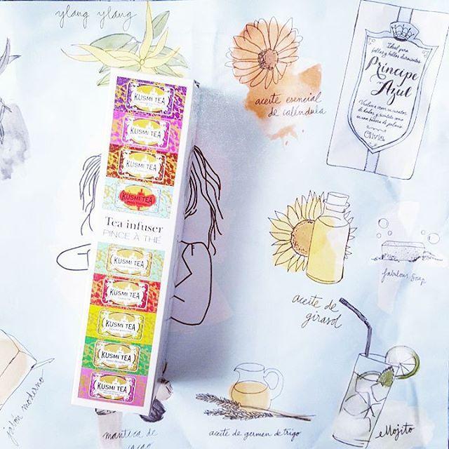 "@fashionandbn en Instagram: ""Cosas bonitas para tomar el té // Beautiful things for teatime #tea #teatime #kusmitea @kusmiteaparis #oliviasoaps #drink #instadrink #instadaily…"""