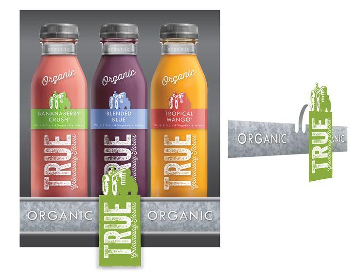 True Organic Juice - Shelf Talker