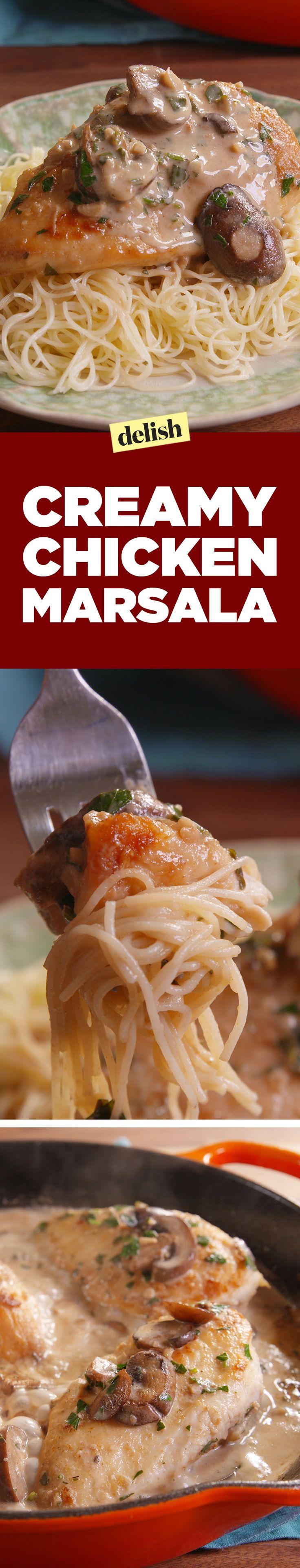 Creamy Chicken Marsala is the most popular chicken recipe on the internet. Get the recipe on Delish.com.