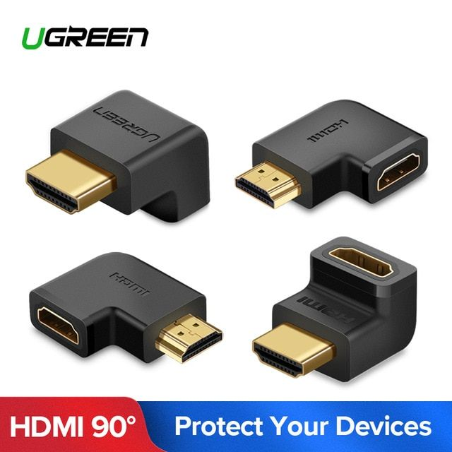 Ugreen Hdmi Connector Male To Hdmi Female Adapter 4k Converter Extender 270 90 Degree Right Angle For 1080p Hdtv Pc Hdmi Adapter Review Hdmi Hdmi Extender Hdtv