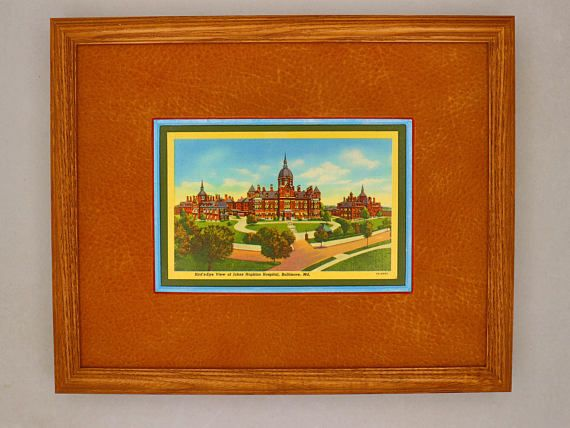 Johns Hopkins Hospital Baltimore Maryland vintage print