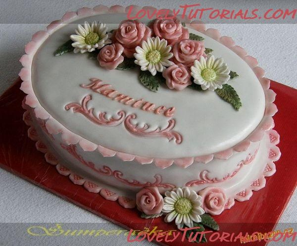 How to decorate cake borders