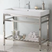 Contemporary Art Websites Empire Industries SBSN Bath Console with Optional Milano Ceramic Countertops Satin Stainless Steel