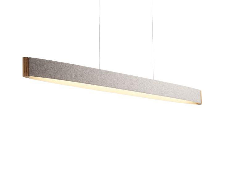 DOMUS ZEP 13 - Pendelleuchte. Unser wegweisendes LED- Flaggschiff. Die schlanke Silhouette von ZEP 13, deren zweifarbige Blende aus Wollfilz mit zwei massiven Zebrano-Formteilen eingefasst wird, verbindet eindrucksvoll pures Design und innovative Technik. Das organische Material Filz wurde bewusst zur Lichtlenkung eingesetzt, um dem an sich technisch harten Licht von LEDs eine weiche und stimmungsvolle Atmosphäre zu geben.