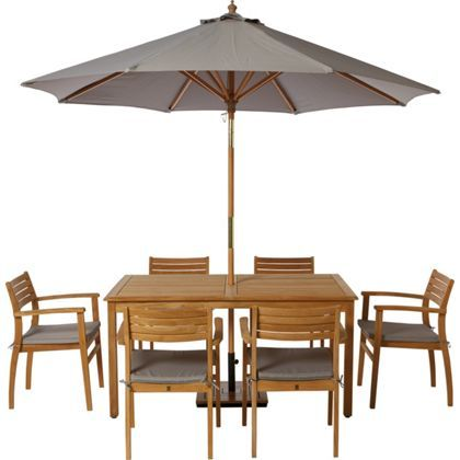malmo wooden 6 seater garden furniture set