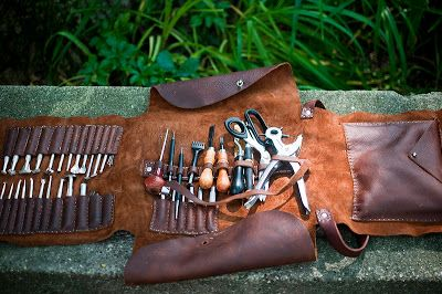 Leather Tool Roll | Sweet Juniper WoodCraft