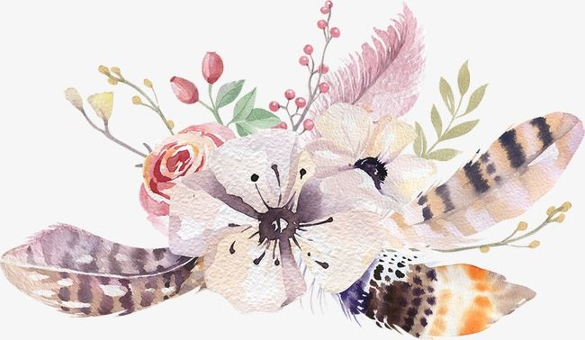 Pin By Tiki T On Artsy Fartsy In 2019: Bohemia, Watercolor, Flower PNG Transparent Image And