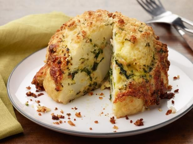 Get Roasted Stuffed Cauliflower Recipe from Food Network