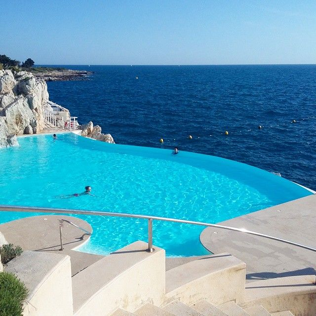 Hotel Du Cap-Eden-Roc, Antibes, France. #travel #Europe #France #Cannes2015 #HotelDuCap #ocean #water #waves #island #pool #ethereal #wonder #beauty #blessed #ThankYouGod