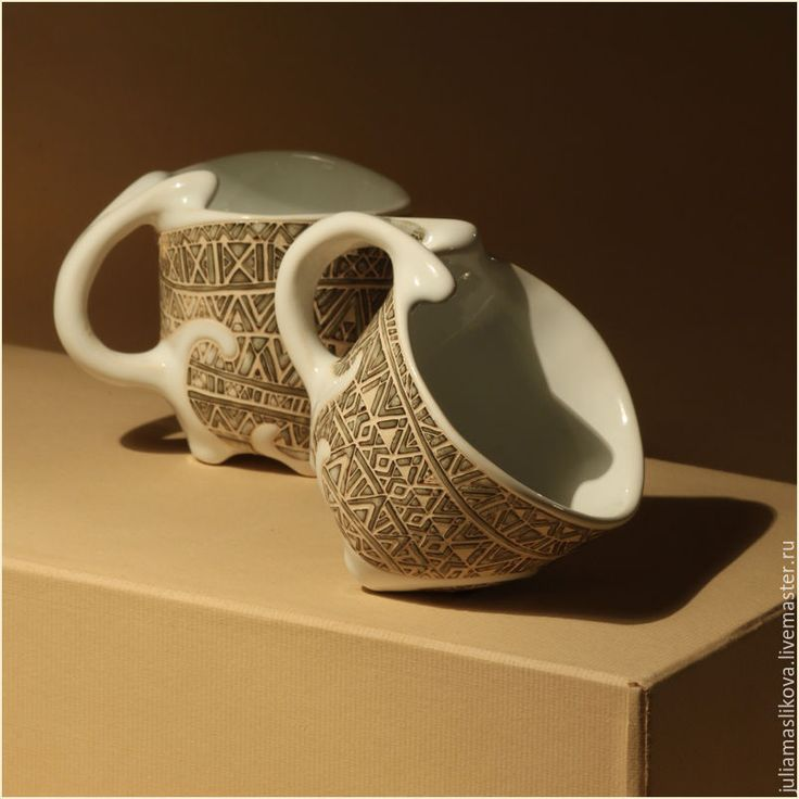"Купить Две чашки ""Белое море"" - белый, Север, белое море, море, белая керамика"
