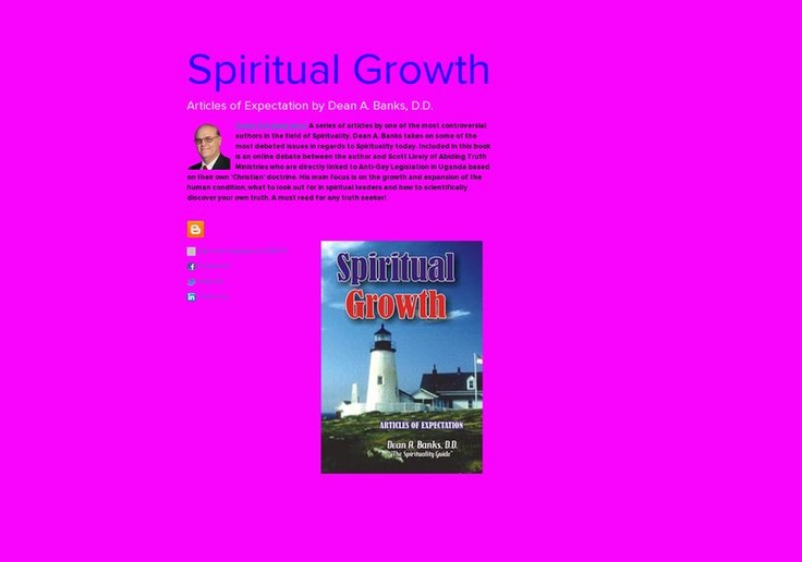 Spiritual Growth's page on about.me – http://about.me/spiritualgrowthbook: About Me, Spiritual Growth S, Future Yesterday, Growth Spiritualgrowthbook