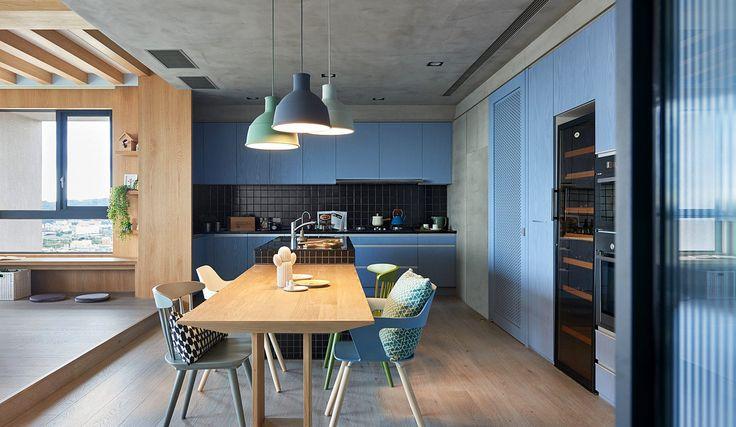 #Cocinas | Los muebles de madera hacen juego con algunas de las paredes. | Galería de fotos 7 de 13 | AD MX