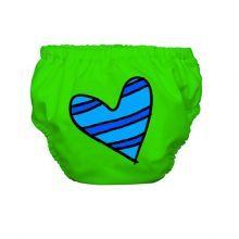 heart on green swim diaper / Charlie Banana