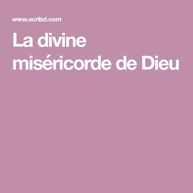La divine miséricorde de Dieu